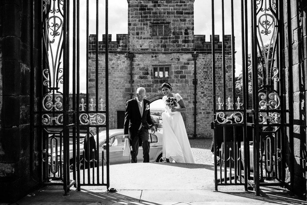 bridal arrival hoghton tower