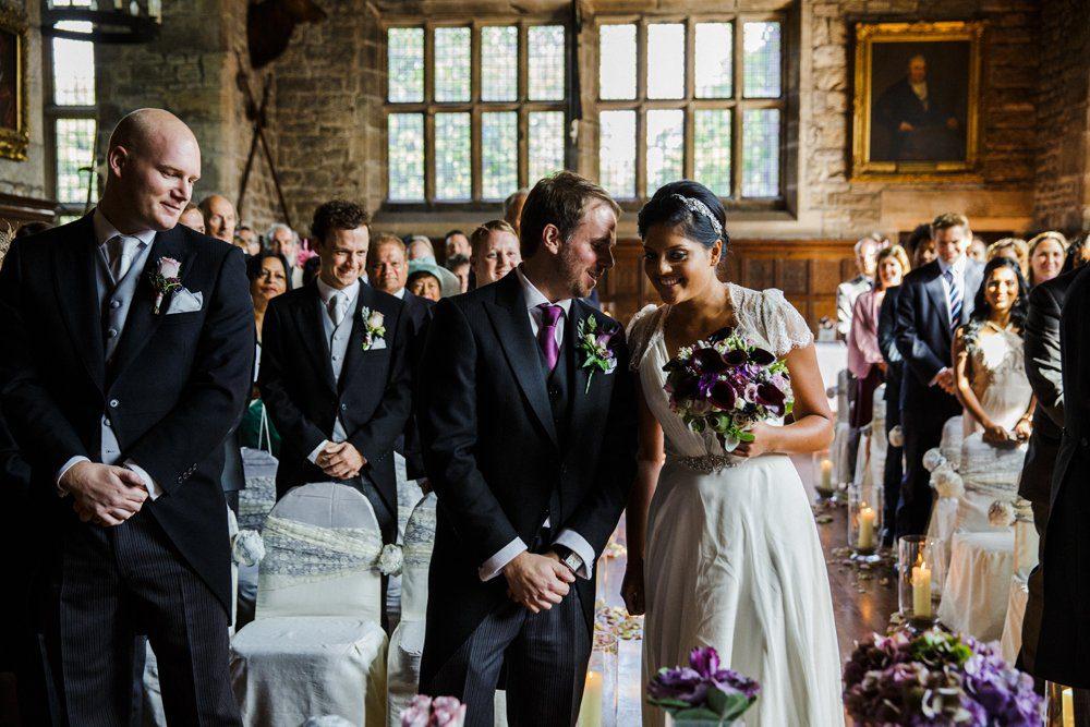 wedding ceremony hoghton tower