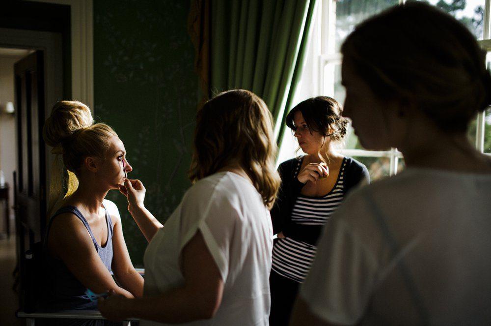 bride getting ready stubton hall