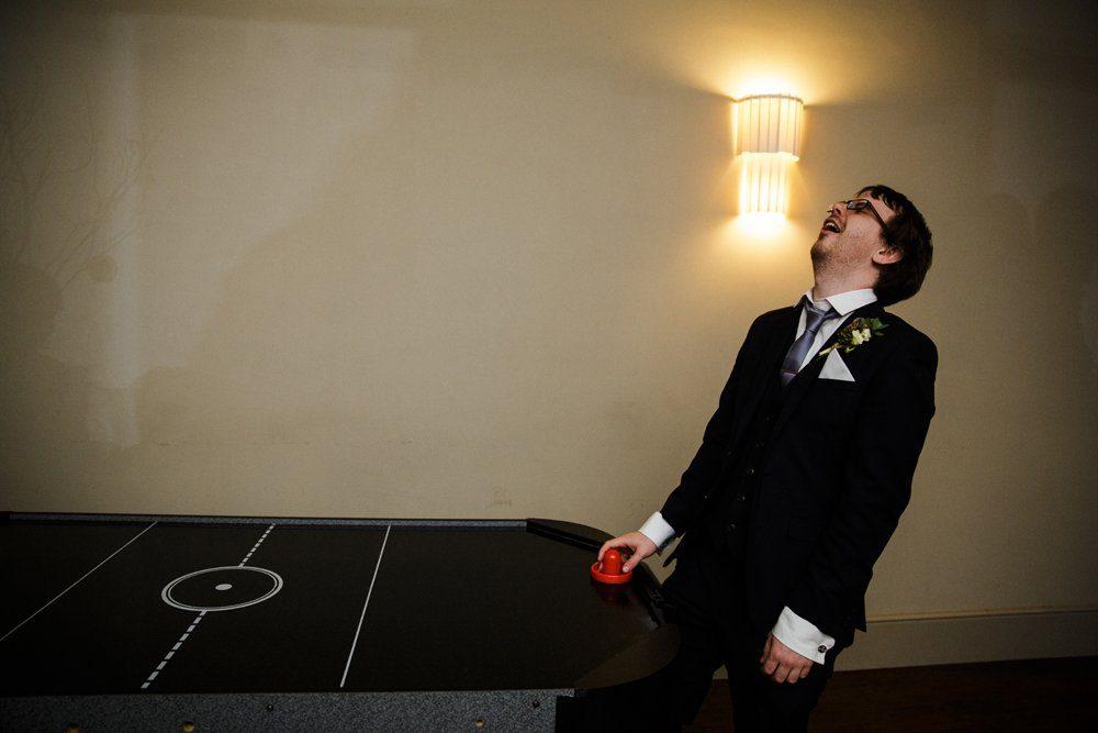 air hockey wedding