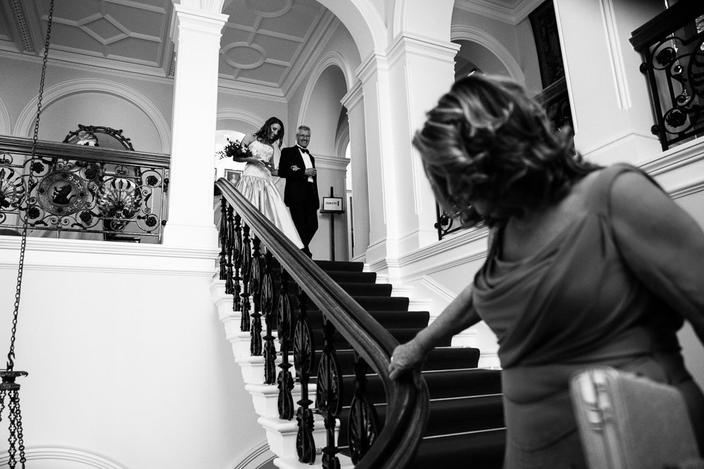 staircase capesthorne hall wedding
