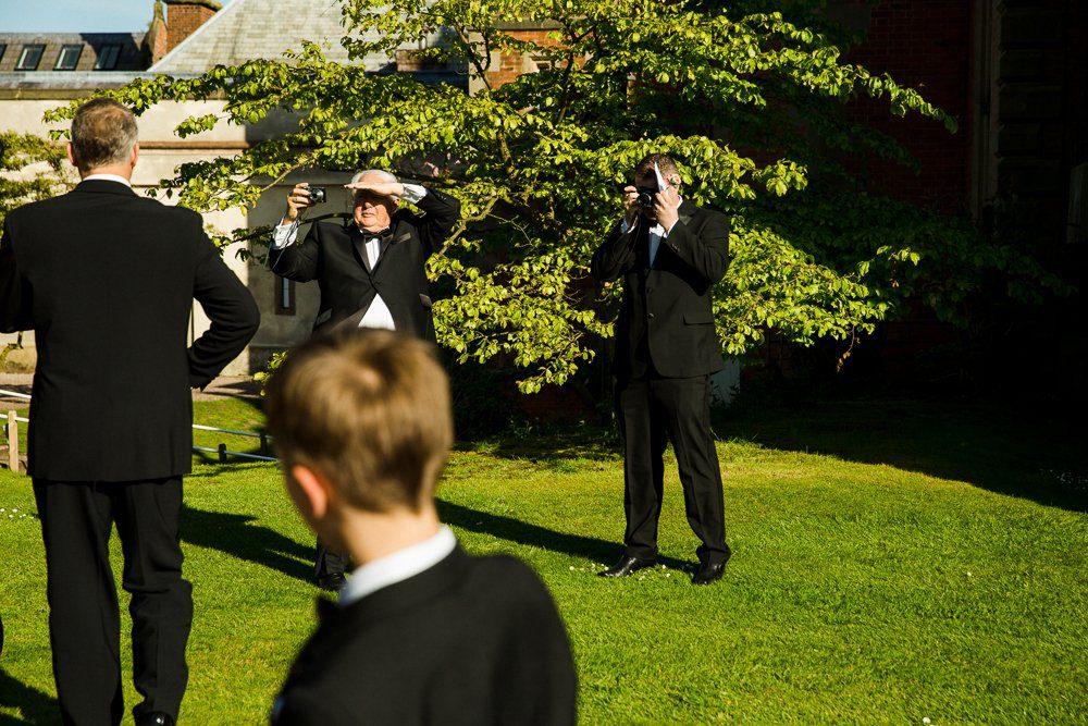 capesthorne hall wedding outside