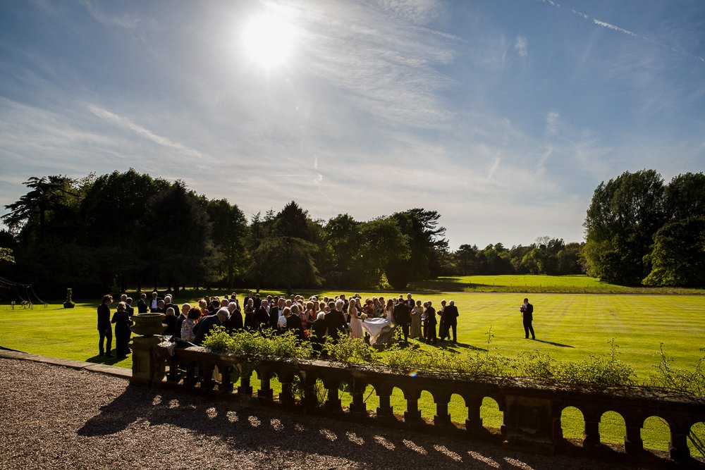 capesthorne hall wedding in the sun