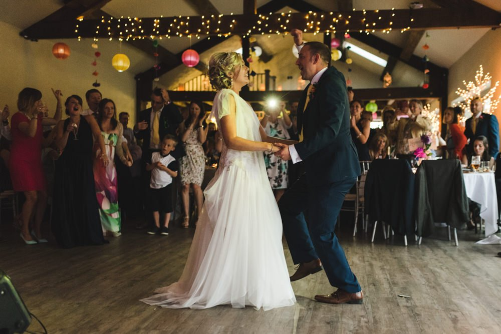 Wedding barn richmond first dance