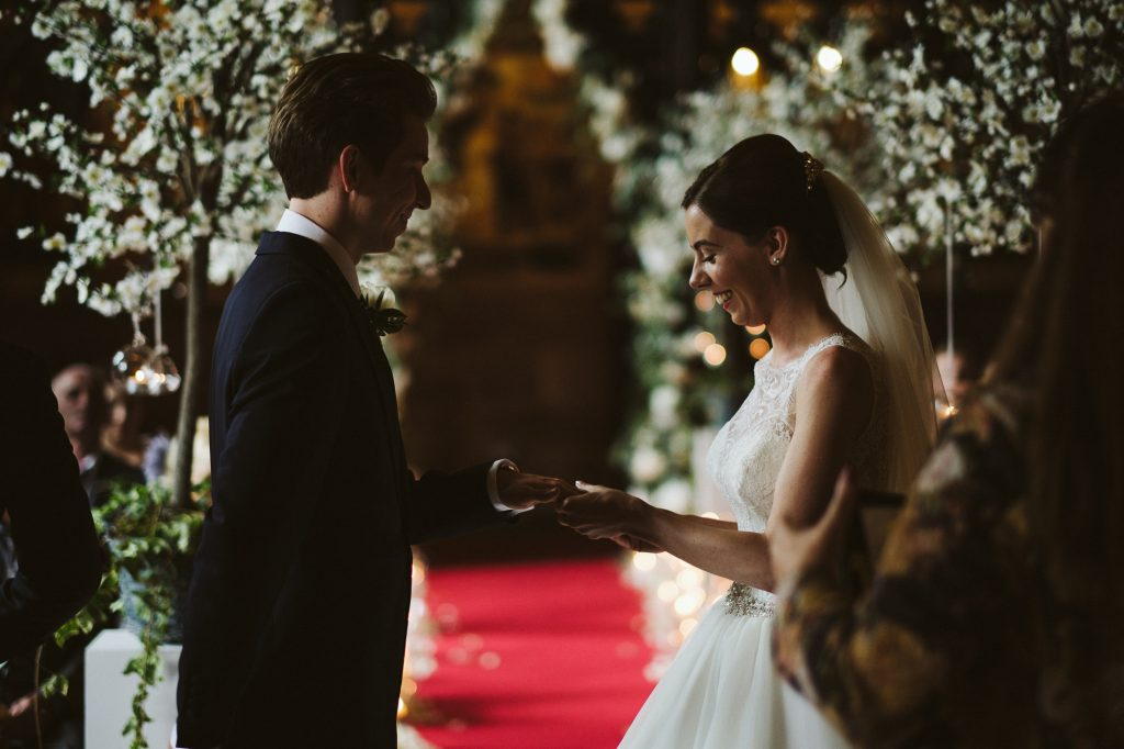 wedding ceremony peckforton castle