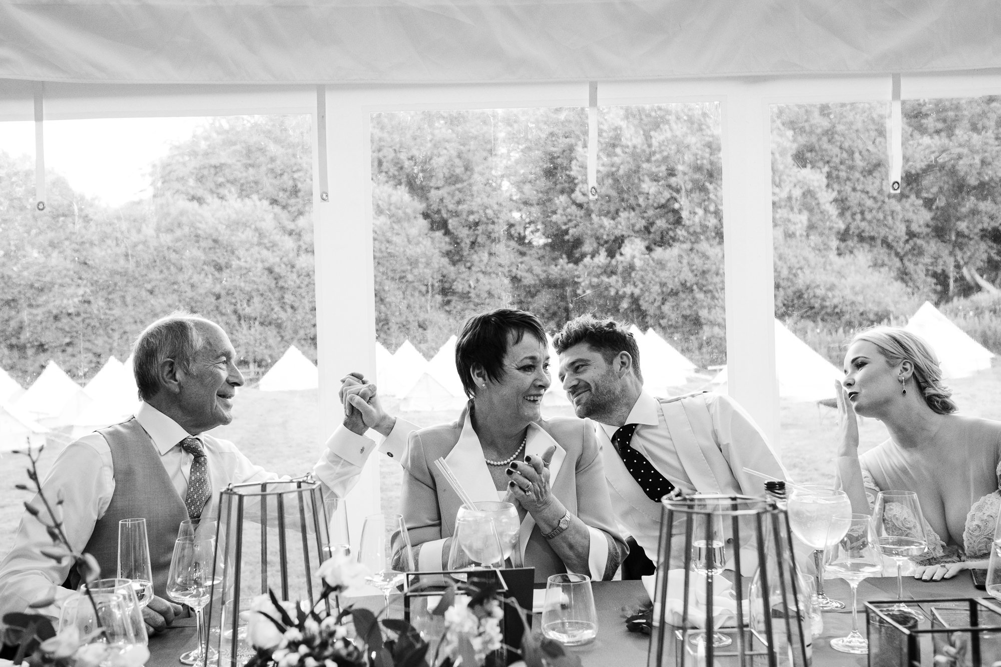 home marquee wedding photography