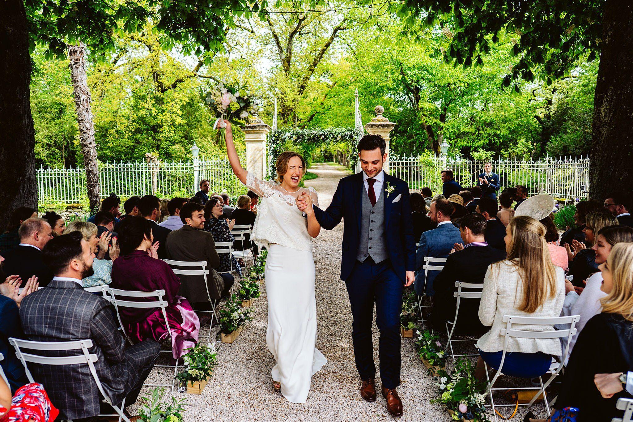 Chateau Lartigolle wedding ceremony